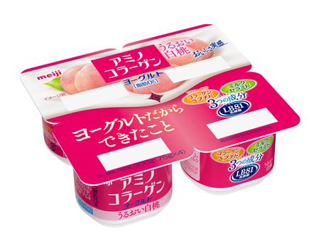 20160317meijimomo - 明治/フィッシュコラーゲン1000mg配合「アミノコラーゲンヨーグルトうるおい白桃」