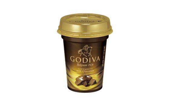 20170906morinaga3 562x351 - 森永乳業/チルドカップ飲料「ゴディバ ミルクチョコレート」